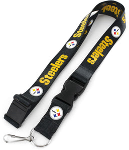 Pittsburgh Steelers Officially Licensed Black and Gold NFL Logo Team Lanyard