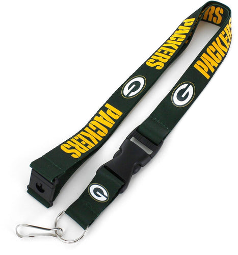 Green Bay Packers Officially NFL Licensed Green and Gold Logo Team Lanyard