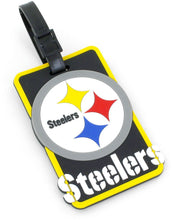 "This NFL Licensed Soft Bag Tag is colorful, durable, and flexible.  Write identification information directly onto the interior card.   Tag size: L 4.3"" x W 2.3""  The Soft Bag Tag can be use for suitcase, handbags, luggage, travel bags, computer bags, etc."