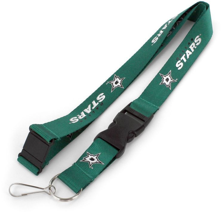 Dallas Stars Officially NHL Licensed Green and White Logo Team Lanyard