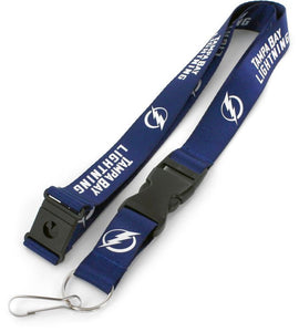Tampa Bay Officially Licensed Blue and White NHL Logo Team Lanyard