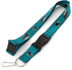 San Jose Sharks Officially NHL Licensed Teal and Black Logo Team Lanyard