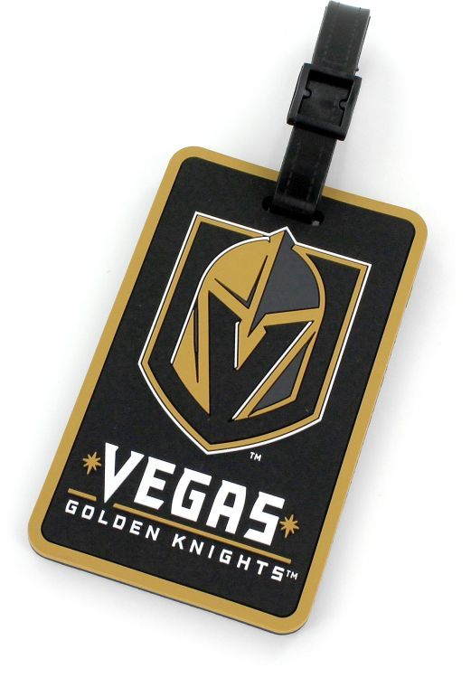 GOLDEN KNIGHTS NHL Licensed SOFT Luggage BAG TAG~ Black and Gold