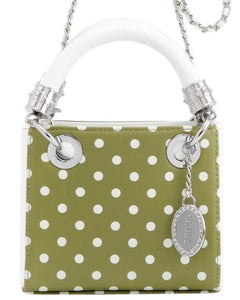 SCORE! Jacqui Classic Top Handle Crossbody Satchel - Olive Green and White