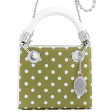 Jacqui Classic Satchel Polka Dot - Olive Green and White ~ Kappa Delta Portland State US Army
