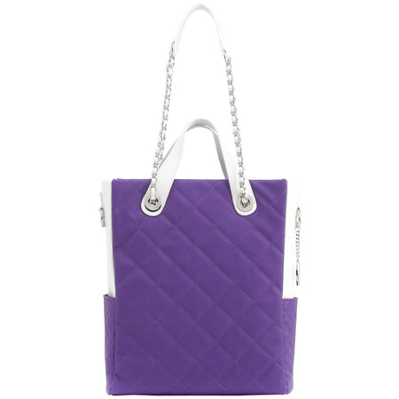 Kathi Travel Tote - Royal Purple and White