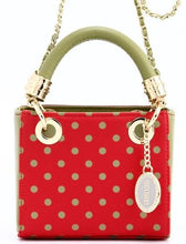 SCORE! Jacqui Classic Top Handle Crossbody Satchel - Red and Olive Green