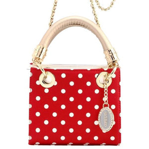 Score! Jacqui Classic Top Handle Crossbody Satchel - Red, White and Gold