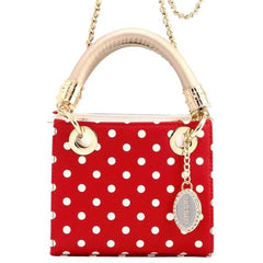 Chrissy Medium Clear Game Day Handbag - Racing Red, White and Metallic Gold