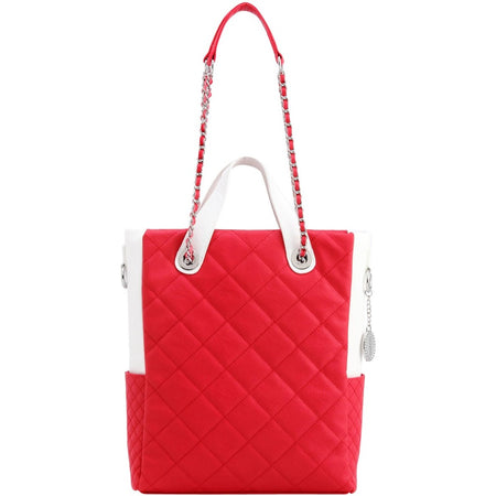 Kathi Travel Tote - Racing Red and White