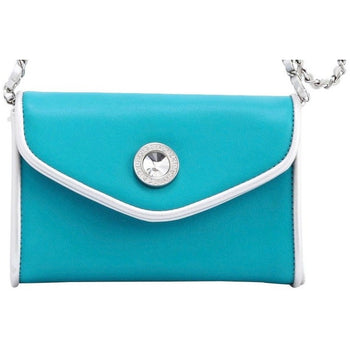 Eva Classic Clutch - Turquoise and Silver