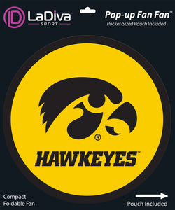 Pop-Up Fan Fan with Pouch-University of Iowa - Hawkeyes