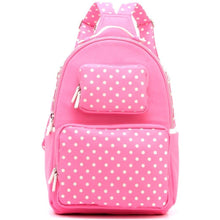 Natalie Michelle Backpack Large - Pink and White