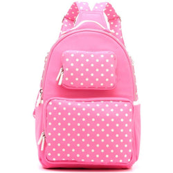 Natalie Michelle Backpack Large - Aurora Pink and White