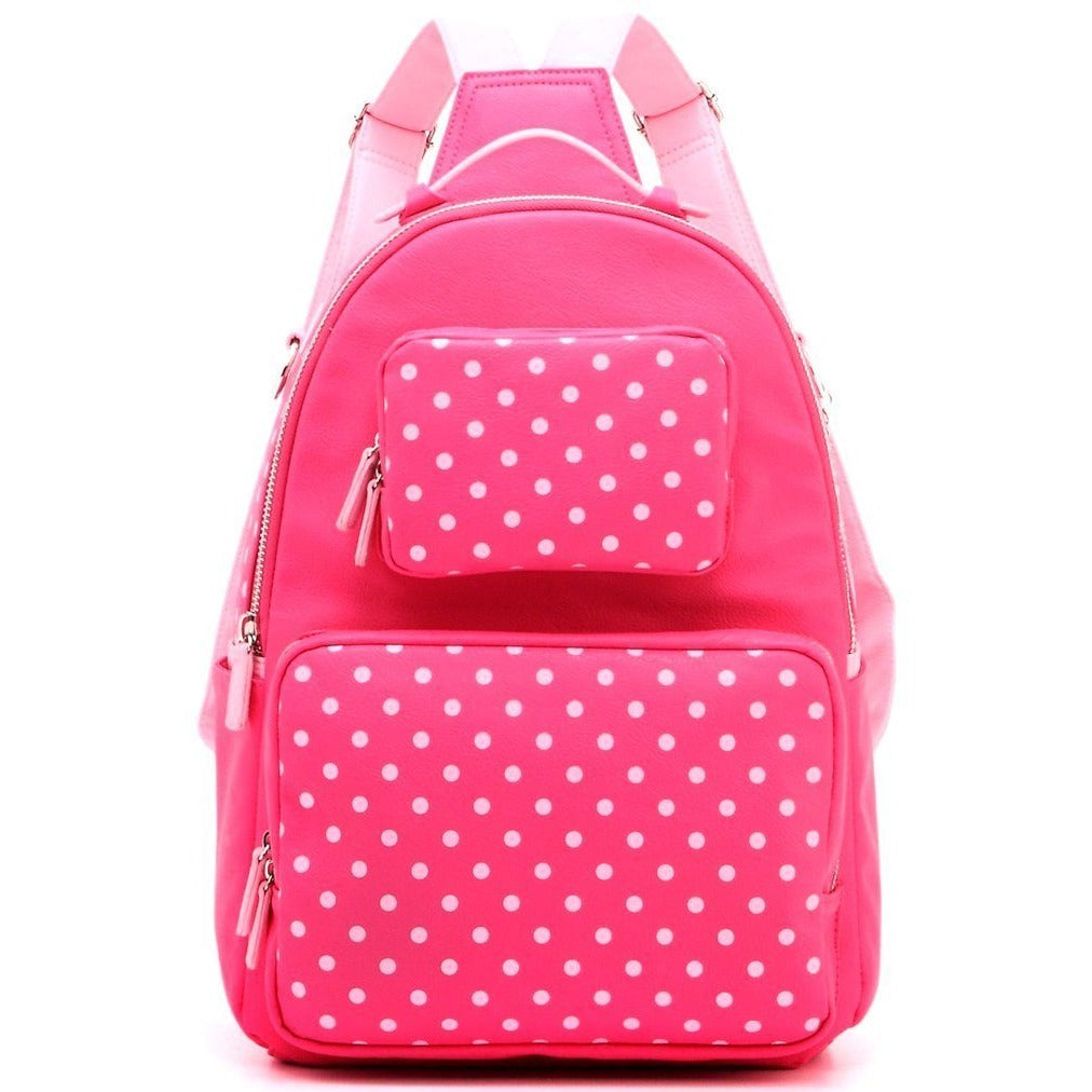 Natalie Michelle Backpack Large- Fandango Pink and Light Pink