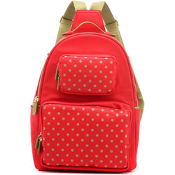 Natalie Michelle Backpack Large - Racing Red and Olive Green