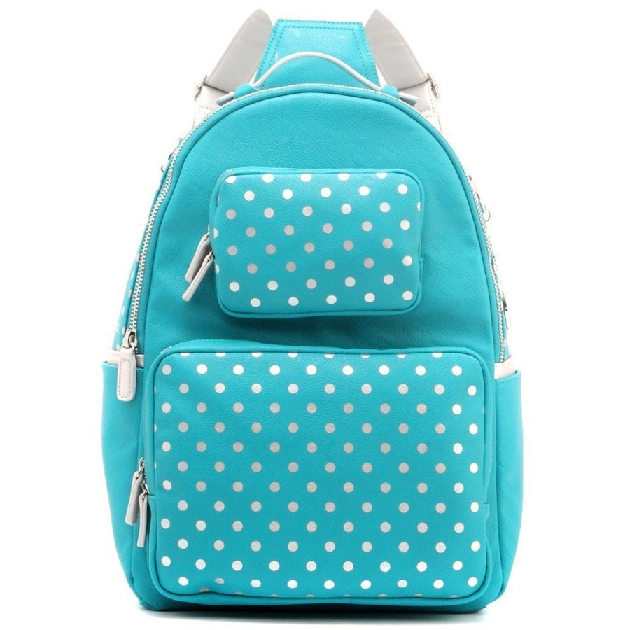 Natalie Michelle Backpack Large - Turquoise and Silver