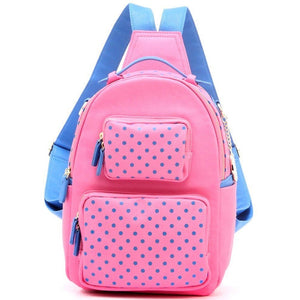Natalie Michelle Backpack Medium - Pink and French Blue