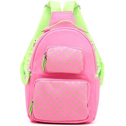 Natalie Michelle Backpack Medium - Aurora Pink and Lime Green