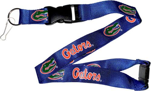 FLORIDA University Gators Orange and Blue Officially NCAA Licensed Logo Team Lanyard