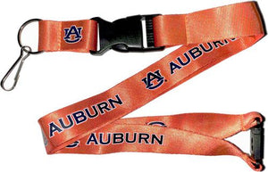 AUBURN University Tigers Orange and Blue Officially NCAA Licensed Logo Team Lanyard