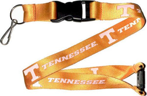 NCAA TENNESSEE University Volunteers Officially Licensed Logo Team Lanyard~Orange and White