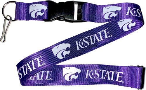 NCAA KANSAS STATE Wildcats KSU Purple and White Officially Licensed Logo Team Lanyard