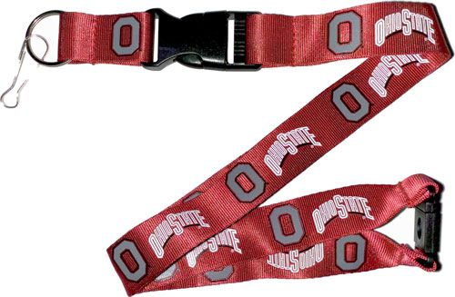 NCAA OHIO State Buckeyes Red and White Officially Licensed Logo Team Lanyard