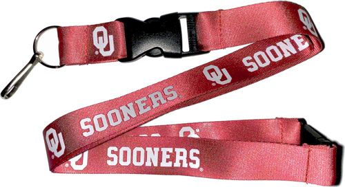 NCAA OKLAHOMA University OU Sooners Red and White Officially Licensed Logo Team Lanyard