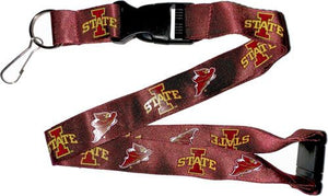 IOWA STATE Red Cardinal and Gold Yellow Officially NCAA Licensed Logo Team Lanyard