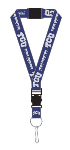 NCAA TCU Texas Christian University Horned Frogs Purple and White Officially Licensed NCAA Logo Team Lanyard
