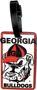 GEORGIA University Bulldogs NCAA Licensed SOFT Luggage BAG TAG
