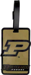 PURDUE University Boilermakers NCAA Licensed SOFT Luggage BAG TAG~ Black and Gold