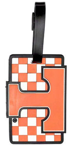 TENNESSEE Volunteers NCAA Licensed SOFT Luggage BAG TAG~ Orange and White