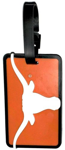 University of TEXAS Longhorns NCAA Licensed SOFT Luggage BAG TAG
