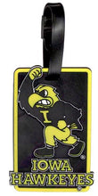 IOWA University Hawkeyes NCAA Licensed SOFT Luggage BAG TAG