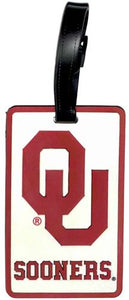 OKLAHOMA University SOONERS NCAA Licensed SOFT Luggage BAG TAG