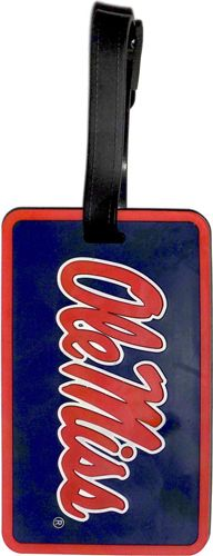 OLE MISS University NCAA Licensed SOFT Luggage BAG TAG