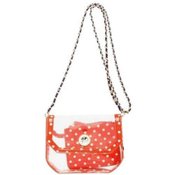 Chrissy Small Clear Game Day Handbag - Orange, White and Royal Purple