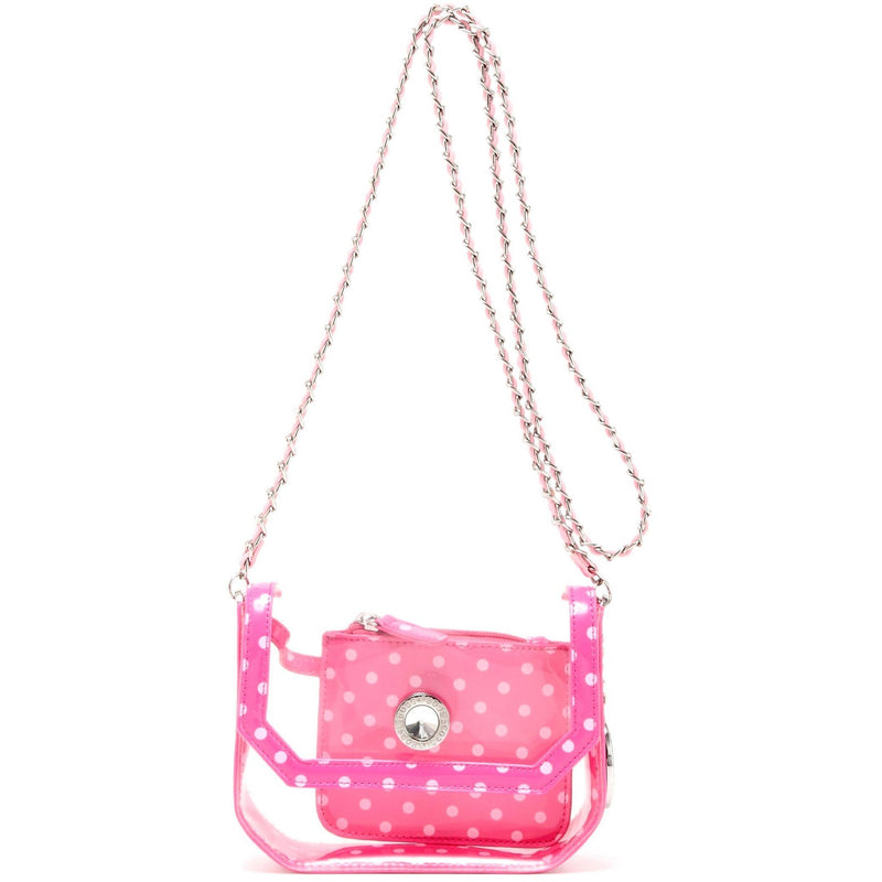 Chrissy Small Clear Game Day Handbag - Fandango Pink and Light Pink