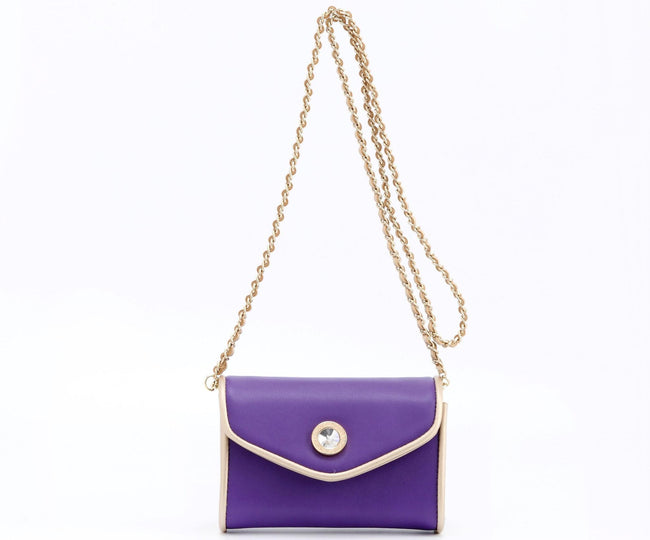 Eva Classic Clutch - Royal Purple and Gold