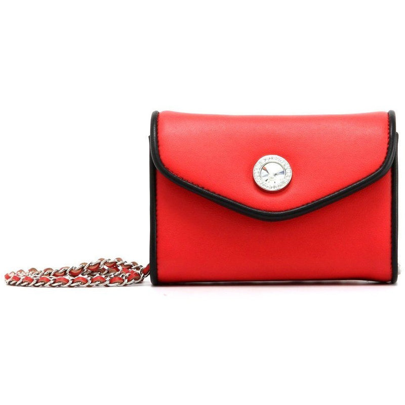 Eva Classic Clutch - Racing Red and Black