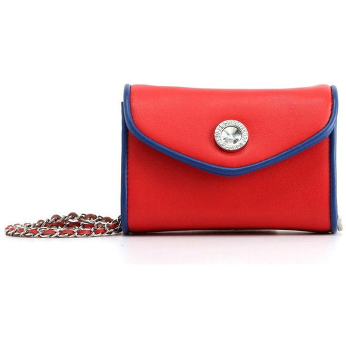 SCORE! Eva Designer Crossbody Clutch - Red and Blue