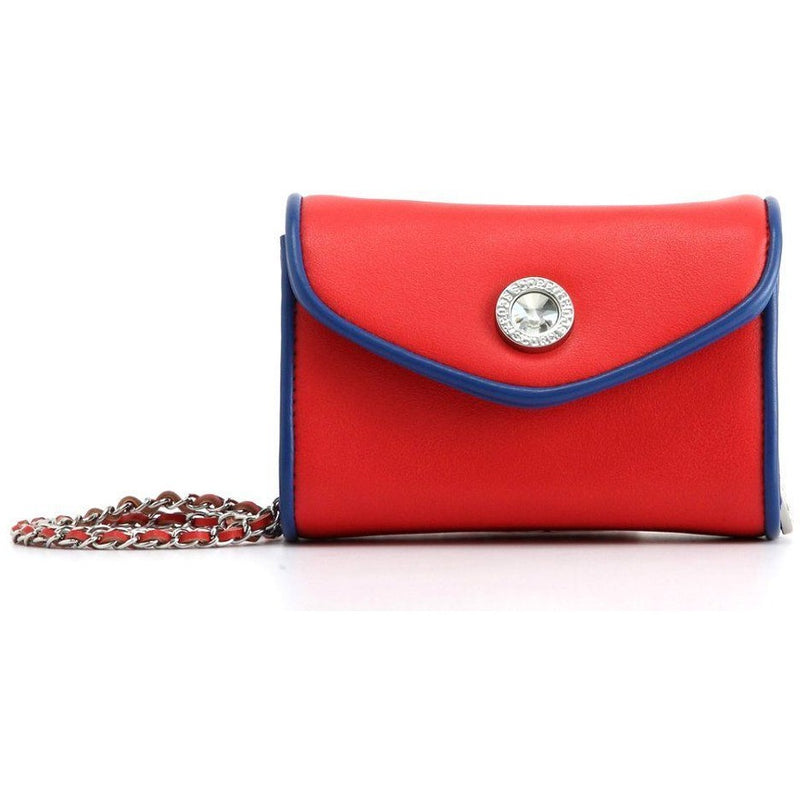 Eva Classic Clutch - Racing Red and Navy Blue