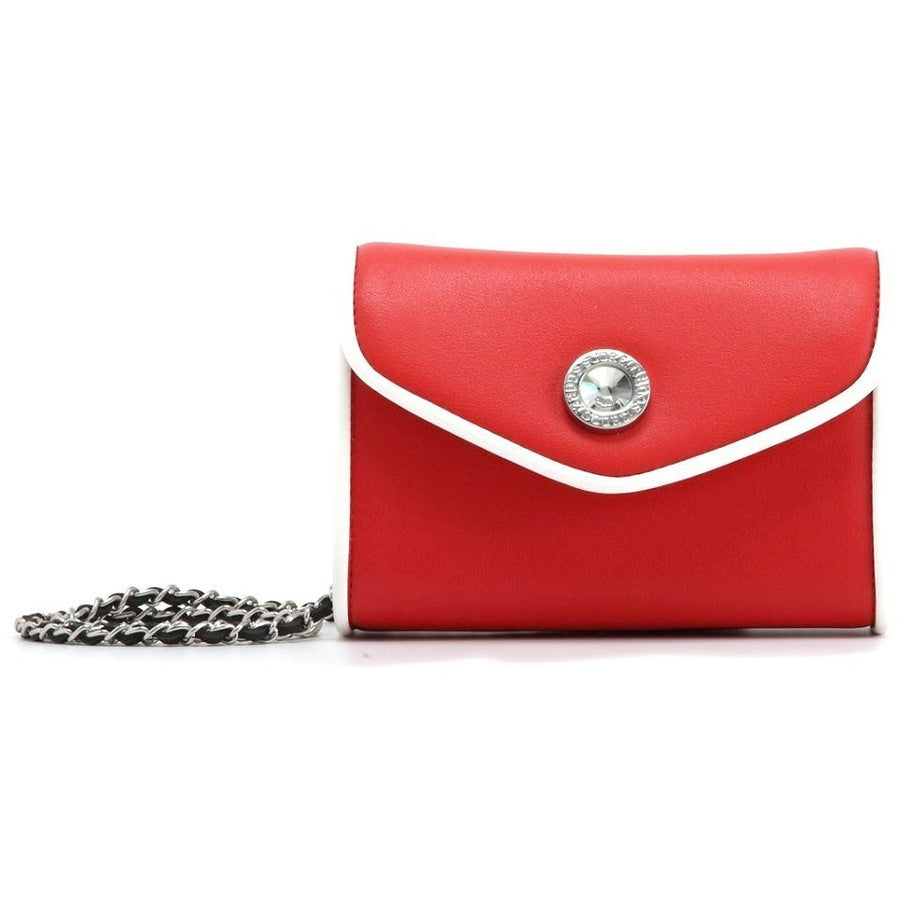 Eva Classic Clutch - Racing Red and White