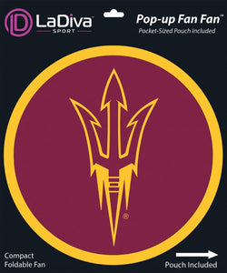 Pop-Up Fan Fan with Pouch-Arizona State University ASU Sun Devils