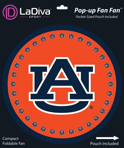 Pop-Up Fan Fan with Pouch-Auburn University