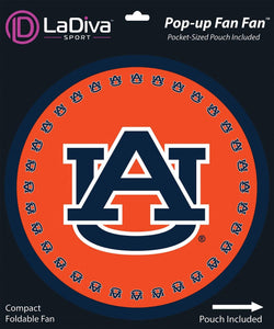 Auburn University~Pop-Up Fan Fan with Pouch