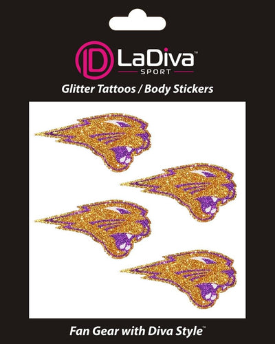 University of Northern Iowa UNI Panthers Purple and Gold~Body, Face and Purse Sticker Tattoos