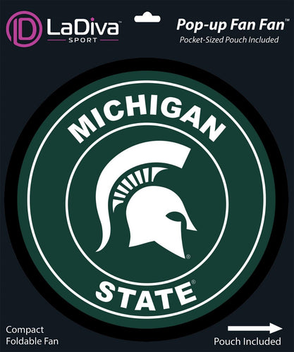 Pop-Up Fan Fan with Pouch-Michigan State University